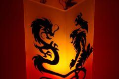 "Lampa ""Dragon vs Tiger"""